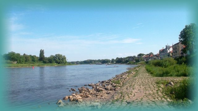 mit dem Rad nach Laubegast an der Elbe