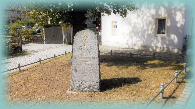Gedenkstein Hauptstraße Dresden Weißig