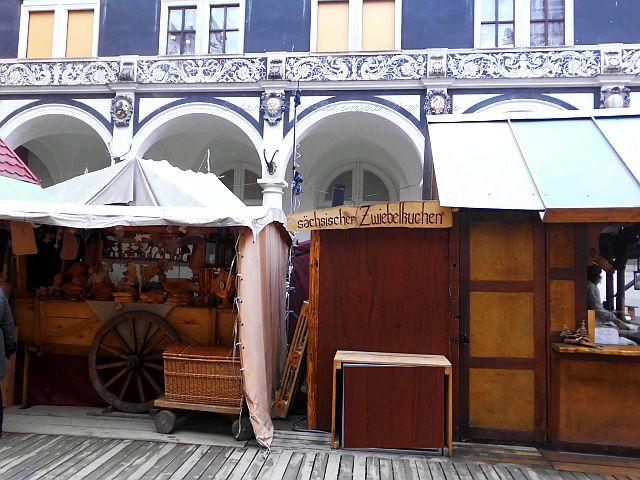 Stände Mittelalter Weihnachtsmarkt Dresden