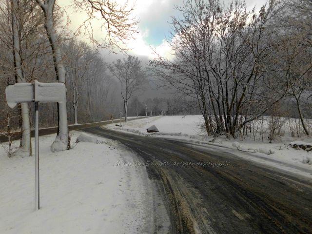 Bad Gottleuba Ausflugsziel im Winter