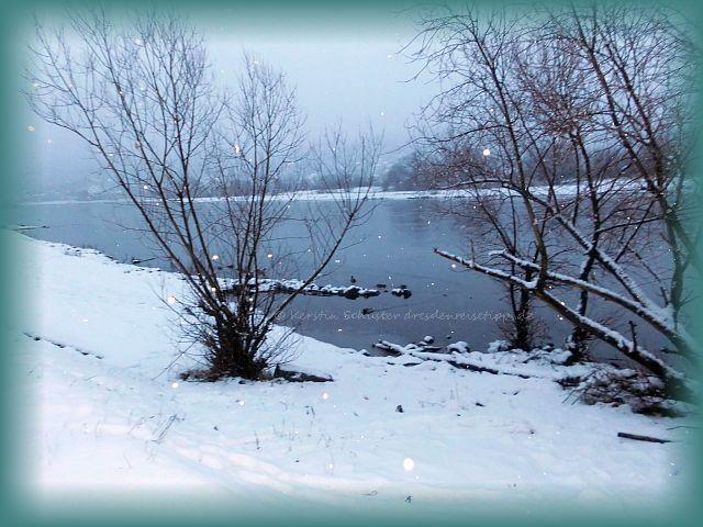 Winter in Dresden Laubegast versinkt im Schnee