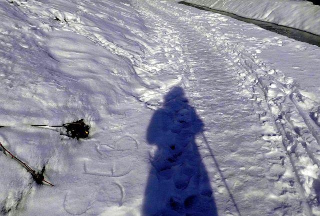 mystische Schneegestalt