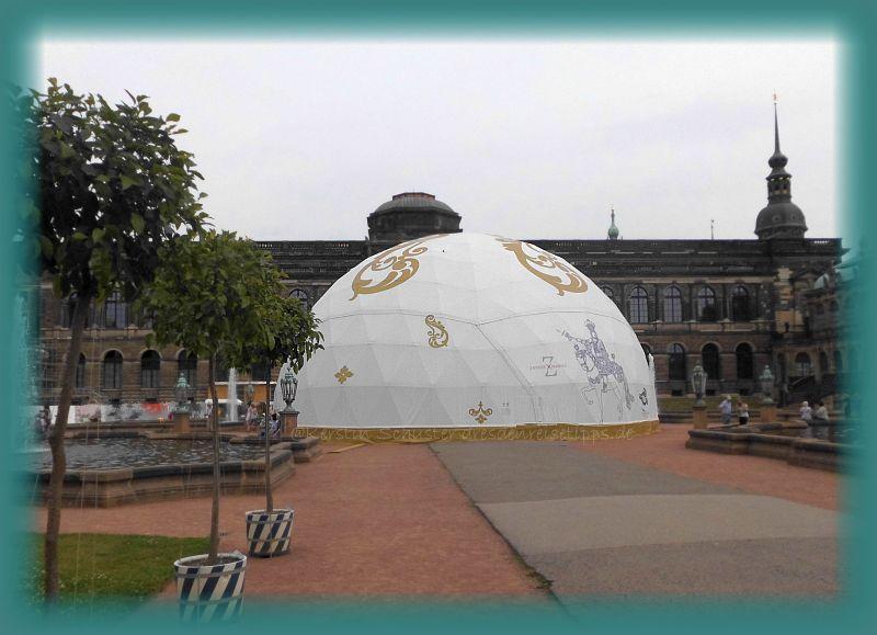 Halbkugel im Dresdner Zwinger