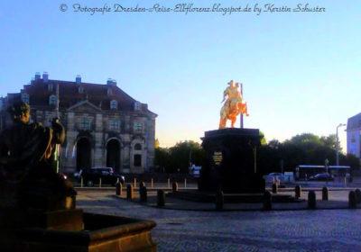 Dresden feiert Tag der Deutschen Einheit um den Goldenen Reiter herum