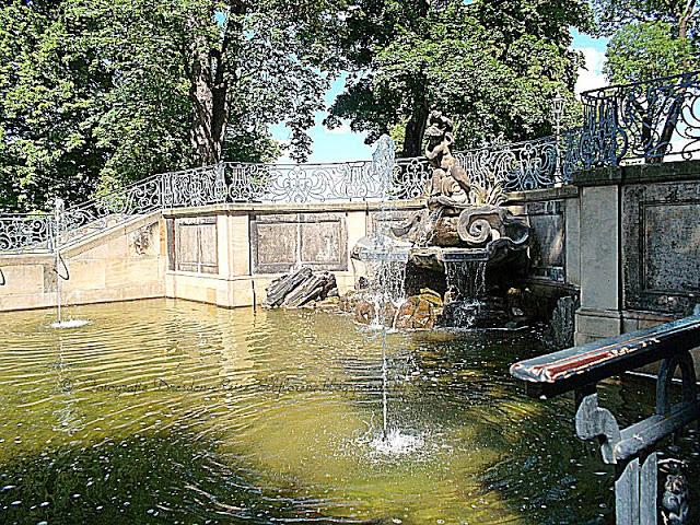 Brunnenanlage auf der Brühlschen Terrasse