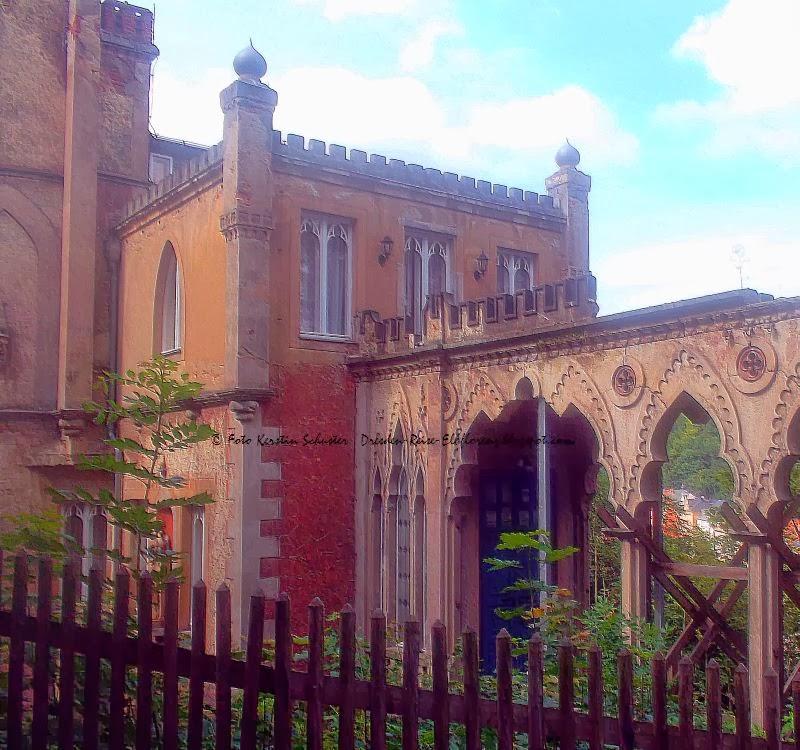 Schloss im Tudorstil Tharandt bei Freital