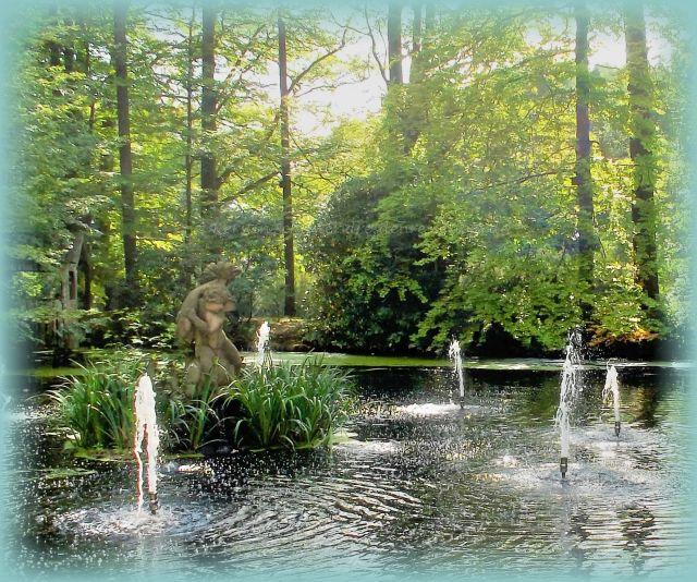 Wasserspiele im Schlossgarten Rammenau