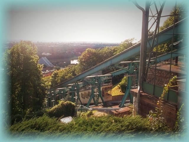 Dresdner Bergbahnen am Blauen Wunder