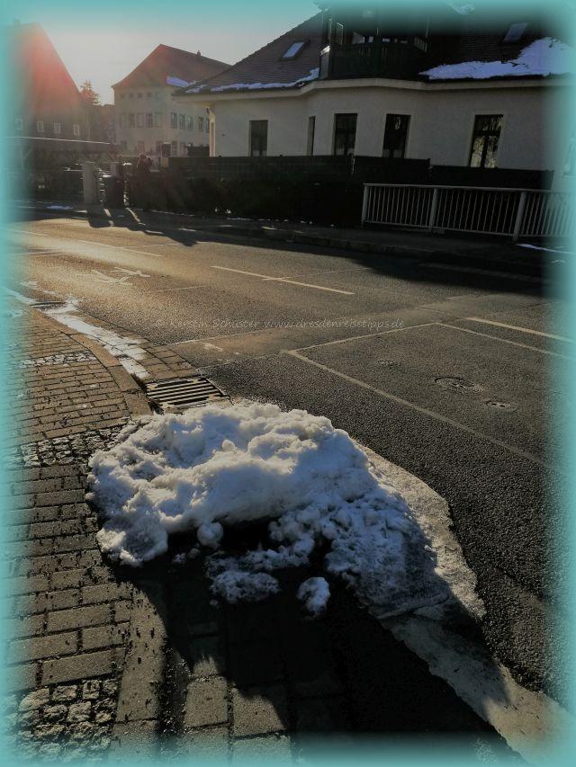 Rundgang durch Kaitz im Winter