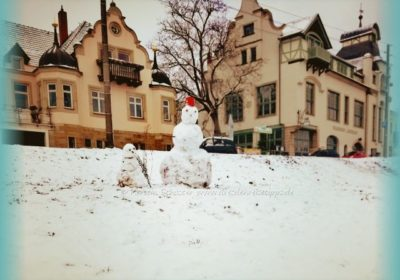 Schneemann bauen Dresden