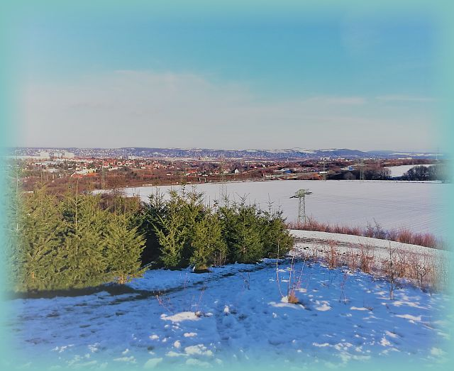 Panoramaaussicht Dresden Kaitzer Höhe