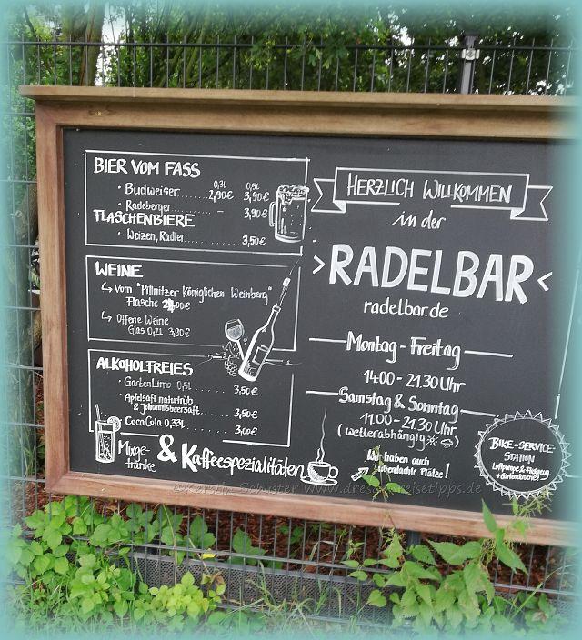 Rast in der Radelbar Kleinzschachwitz